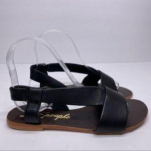 Free People Under Wraps Black Gladiator sandal